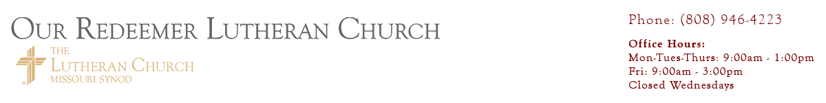 Our Redeemer Lutheran Church Logo